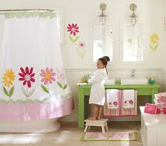 bathroom kids bathroom with pinkish and sweet nuance with flower