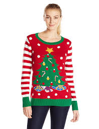 Ugly Christmas Sweater Women S Light Up Christmas Tree Sweater At