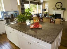 free standing island with stone granite tile kitchen countertop