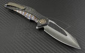 microtech knives custom carbon fiber matrix s e flipper knife