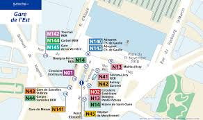 Paris Rer Map Noctilien Bus Maps With Stops For Paris Night Buses