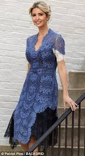 blue lace dress ivanka stuns in an blue lace dress daily mail online