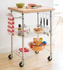 industrial iron wood kitchen trolley natural black buy kitchen amazon com trinity ecostorage bamboo kitchen cart kitchen