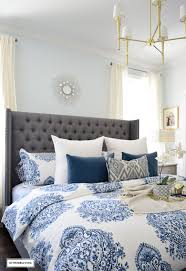 Blue And White Bedrooms by Citrineliving Spring In Full Swing Home Tour 2017
