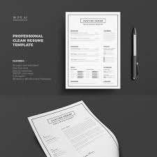 Clean Resume Template Resume John Smith Resume Template 65425
