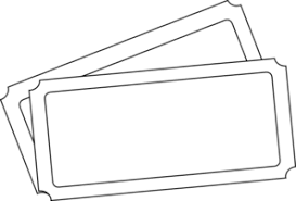 ticket template ticket template clip at clker vector clip