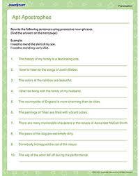 apt apostrophes u2013 printable punctuation worksheets online u2013 jumpstart