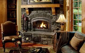 astounding living room decoration using light grey stone fireplace