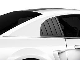 Black 04 Mustang Gt Mmd Mustang Quarter Window Louvers Matte Black 71320 99 99 04