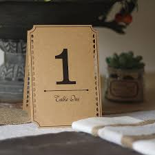 diy table number holders top 7 rustic wedding table numbers