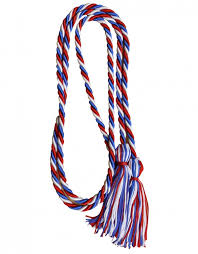 graduation cord white blue honor cord graduationsource
