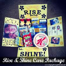what to put in a sick care package rise and shine care package box college and