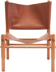 Outdoor Sling Chairs Leather Sling Chair Natural Cherry Workstead Horne