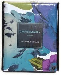 Cynthia Rowley Drapery Cynthia Rowley Fabric Shower Curtain 72 Inch By 72 Inch Floral