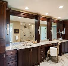 framing bathroom wall mirror gorgeous 30 brown framed bathroom mirrors decorating inspiration