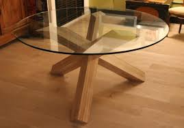 table de cuisine ronde en verre pied central table de salle à manger mobilier menuisier colomiers