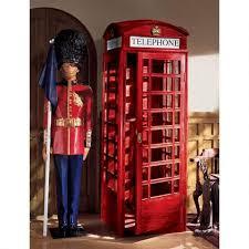 london phone booth bookcase british telephone booth display cabinet ne36832 design toscano