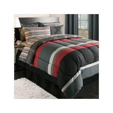 Twin Comforter Sets Boy Amazon Com Boy Red Gray Black Stripe Dorm College Twin Xl