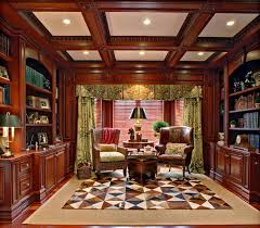 Wood Bookshelves Designs by Home Library Design With Classic Theme Mood Classic Ceiling