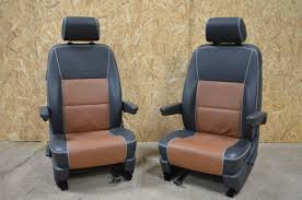 Leather Captains Chairs Front Seats Vw T5 Parts Volkswagen Transporter