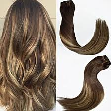 how to fade highlights in hair dark brown hairs 120g set 7pcs 16 inch balayage clip in hair extensions blonde