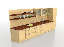 one wall kitchen cabinets 3d model 3ds max files free download