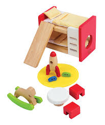 amazon com hape wooden doll house furniture children u0027s room with