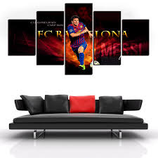 modern five panels canvas print painting famous football player