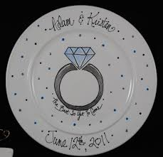 ceramic wedding plates personalized engagement ceramic plate gift by hermanscreations