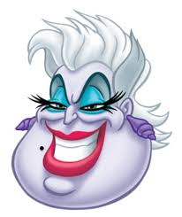 disney halloween ursula mermaid card face mask