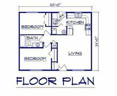 Plan House by I Like This Floor Plan 700 Sq Ft 2 Bedroom Floor Plan Build Or