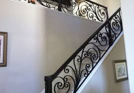 custom staircases fireplace door