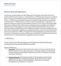 hipaa business associate agreement template sample business