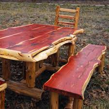 cedar rough cut table this will be mine one day dream