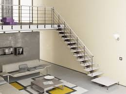 Decorations Trendy Living Room Style With Minimalist Wall Stairs