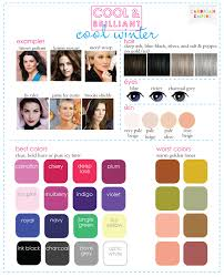Warm Colors Palette by Color Analysis 3 Degrees Of Cool U0026 Brilliant