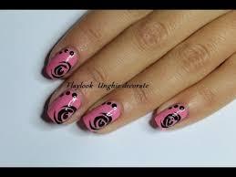 video tutorial 120 nail art con rosa stilizzata by flaylook