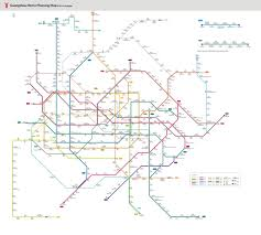 Green Line Metro Map by Guangzhou Metro Maps Subway Lines Stations