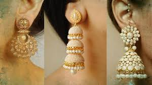 earring design fancy tear drop earring design collection with price
