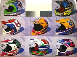 airbrushed motocross helmets 80 u0027s u0026 90 u0027s custom painted helmets of the stars moto related