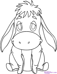 how to draw baby eeyore step by step disney characters cartoons