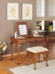 Mirrored Furniture Bedroom Set Bedroom Furniture Vanity With Storage And Two Tone Stained