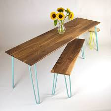 Hairpin Leg Dining Table Dining Table With Industrial Hairpin Legs In Walnut By Cord