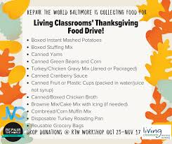 living classrooms foundation thanksgiving food drive
