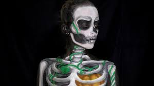 jack skellington pumpkin king body paint halloween tutorial