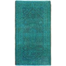 vintage color transition rug in aqua turkey day by day