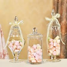 Mason Jar Wedding Decorations 3pcs Set Transparent Lid Storage Bottle Glass Candy Jars Wedding