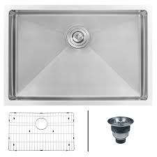 28 inch kitchen sink ruvati 28 inch undermount 16 gauge tight radius stainless steel