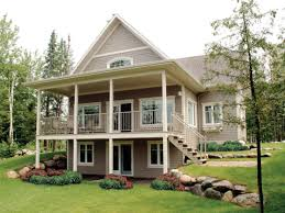 lake home plans witht basement house modern waterfront