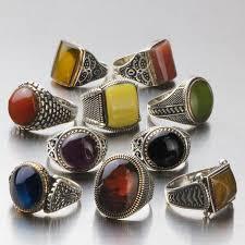 men rings wholesale images Wholesale lot 10pcs 925 k sterling silver mens rings natural amber jpg
